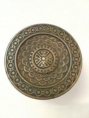 Corbin Brocade 1884 Door Knob Antique Victorian Eastlake Brass D 10100 Drum 2.5""