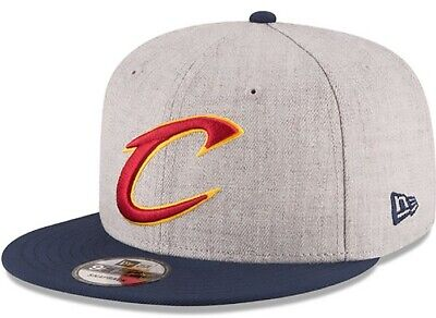 163683eec53 New Era Cleveland Cavaliers NBA 9FIFTY Snapback Hat Gray Heather FREE  SHIPPING