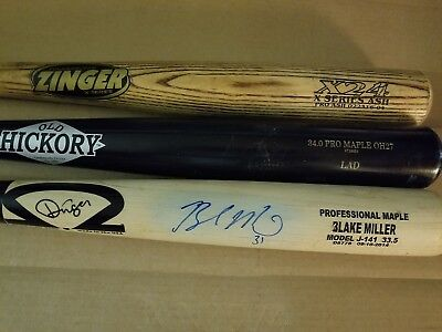 DINGER MAPLE UNCRACKED Baseball Bat Cupped End Game Used 33 5