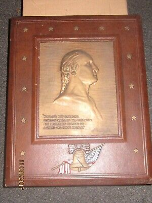 Plaque Bust of George Washington Jean Antoine Houdon by the J K Smith Company