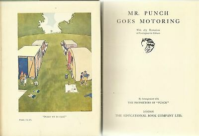 vintage 1930s Mr. Punch GOES MOTORING - from the New Punch Library, volume 11