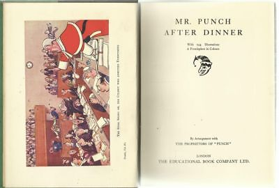 vintage 1930s Mr. Punch AFTER DINNER - from the New Punch Library, volume 4