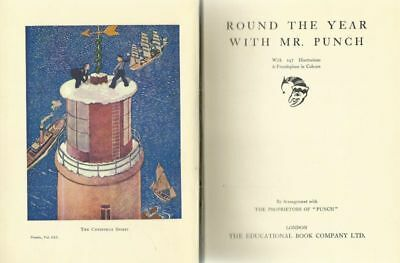 vintage 1930s ROUND THE YEAR WITH MR PUNCH from the New Punch Library vol ume19