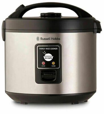 NEW Russell Hobbs 10 Cup Family Rice Cooker Stainless Steel RHRC1