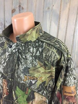e0e7d15ee8f Scent-Lok Full Zip Button Up BUCK SERIES CAMO CAMOUFLAGE SCENT BLOCK Jacket  L
