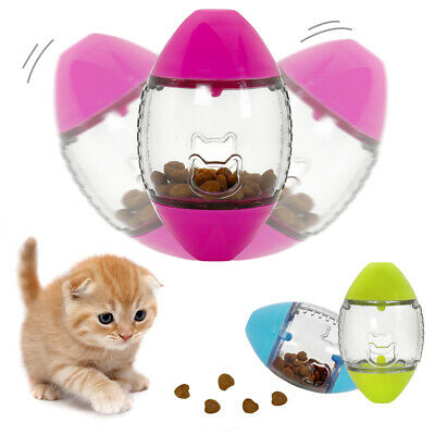 Cute Cat Feeder Pet Toy Food Interactive Treat Toys Bowl Dispenser Kitty Dish