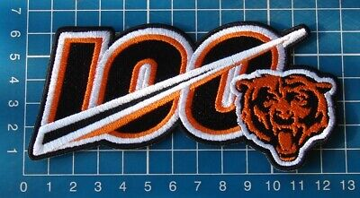 """Chicago Bears 100 years Anniversary 2019 logo Patch 5"""" NFL Football embroidered"""