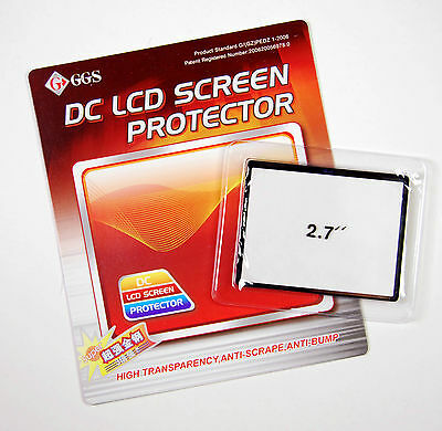 """GGS LCD Glass Screen Protector 2.7"""" Inch Optical Glass for Digital Camera/ DSLR"""