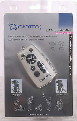Giottos Controller Camcorder Remote for Canon & Sony LANC connection clamp/strap