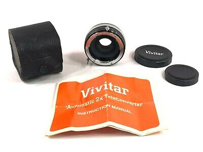 Vivitar Automatic Teleconverter Lens 2X with Case Instructions