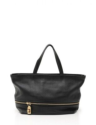 SALVATORE FERRAGAMO DESIGNER Black Leather AU-21 6322 Purse Bag Tote ... 7837a02481462