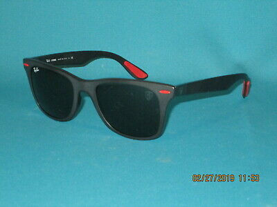 25898ff73c RAY BAN RB4195M LITEFORCE F602 71 Scuderia Ferrari Black Green Sunglasses  52mm