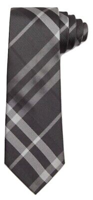 60f8efed516c Burberry Mens Modern Cut Check Silk Tie Made in Italy Black Charcoal $190
