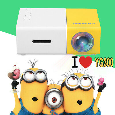 YG300 HD1080P LED Mini Projector Portable Home USB AV SD Theater Cinema Gifts