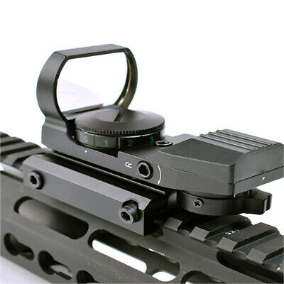 Holographic 4Type Reticle Red / Green Dot Sight Reflex Tactical Scope Rail Mount