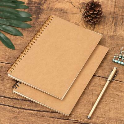 1PC A5 Design 100 Pages Dot Grid Kraft Cover Coil Journal Notebook School Supply