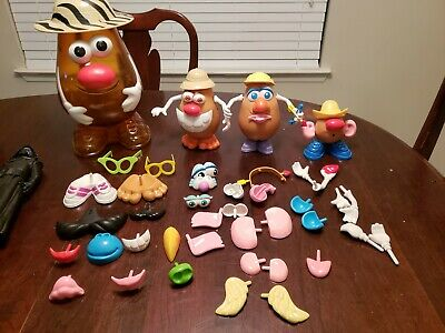 Hasbro 2002 Mr. Potato Head Storage Case with 3 bodies and 50+ accessories