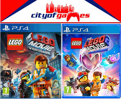 The LEGO Movie 1 & 2 Video Game PS4 Game Bundle Brand New & Sealed In Stock