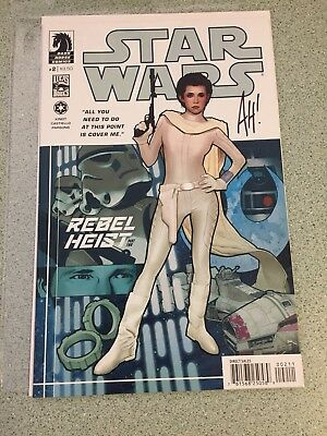 Star Wars Princess Leia Rebel Heist #2 Dark Horse SIGNED By Adam Hughes