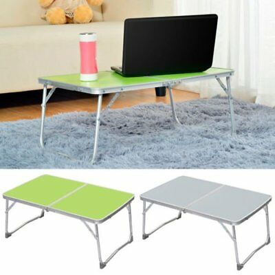 Adjustable Portable Camping Folding Laptop Table Desk Computer Reading Bed Tray^