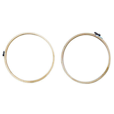 2Pcs Bamboo 9 12 inch Embroidery Hoop Wooden Cross Stitch Ring Frame Crafts