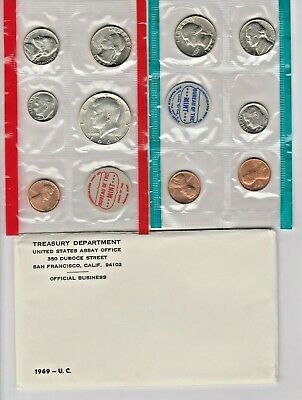 1969 UNCIRCULATED Genuine U.S. MINT SETS ISSUED BY U.S. MINT 40% Silver Half