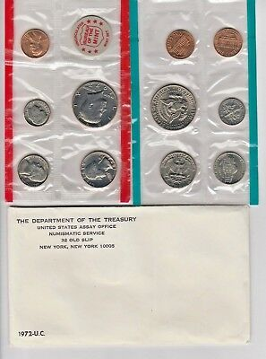 1972 UNC Genuine U.S. MINT SETS ISSUED By the  U.S. MINT (Philadelphia & Denver)