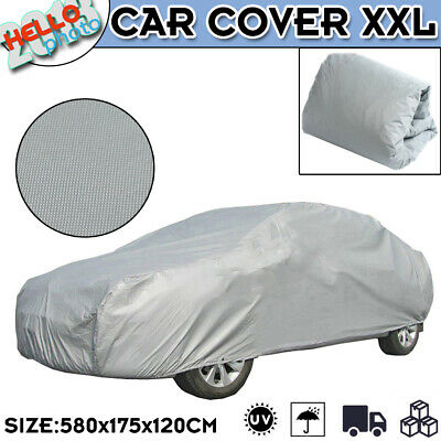 Universal Full Car Cover Outdoor UV Resistant Dust Waterproof Large Size XXL