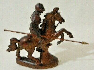 Retro Beautiful Copper Color Middle Ages Plastic Knight His Armor On Horse