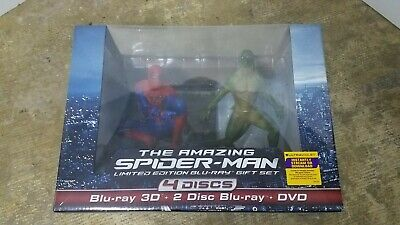The Amazing Spider-Man Gift set(Blu-ray/DVD, 4-Disc Set) w/ Figurines NEW