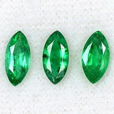 2.10 Cts Natural Top Green Emerald Zambia Marquise Cut Lot Gemstone 9x4.5 mm $