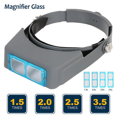 Headband Magnifier Head Magnifier Hands Free Magnifying Glass Optivisor 4 Lense