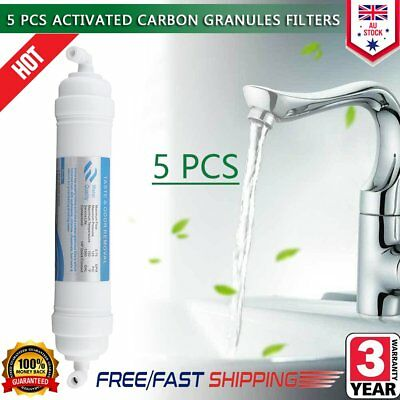 5PCS Easywell AIC-10 In Line Carbon Fridge Water Filters Inline GAC Filter Q1Q