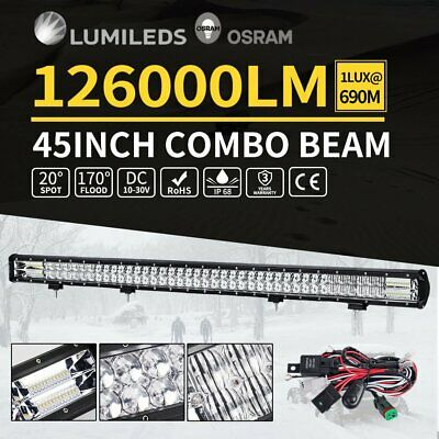 45inch LED Light Bar Spot Flood Offroad Work Driving Osram Lamp 4WD 4x4 H