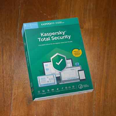 KASPERSKY TOTAL SECURITY 5PC 1 Year (PURE)  2019 (2018) NEW NOT PRE-ACTIVATED