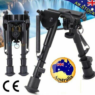 """HOT Adjustable 6"""" to 9"""" Height Sniper Hunting Rifle Bipod Sling Swivel Mount ES"""