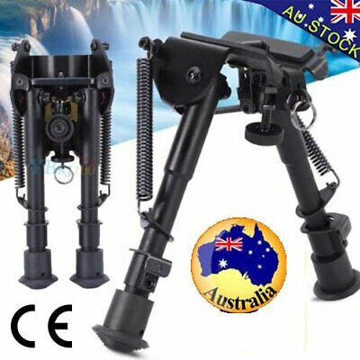 """HOT Adjustable 6"""" to 9"""" Height Sniper Hunting Rifle Bipod Sling Swivel Mount  BO"""