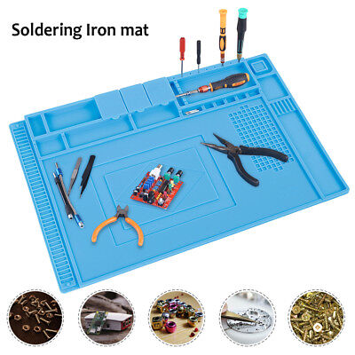 Magnetic Silicone Soldering Mat Heat Resistant Solder Maintenance Insulation H.