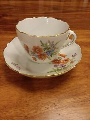 Meissen Porcelain small Antique tea cup and saucer - Rare