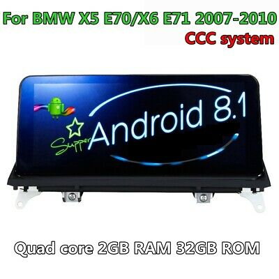 """10.25"""" Android 8.1 Car GPS Navigation for BMW X5 E70 BMW X6 E71 CCC(2007-2010)"""