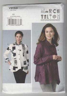 Vogue Sewing Pattern V9153 Marcy Tilton Miss Loose Fitting Shirt Sz 16-26