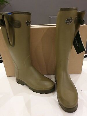 a75f0d21a0538 Le Chameau Vierzonord Mens Neoprene Lined Boot Size 40 UK 6.5 Vert Grun NEW