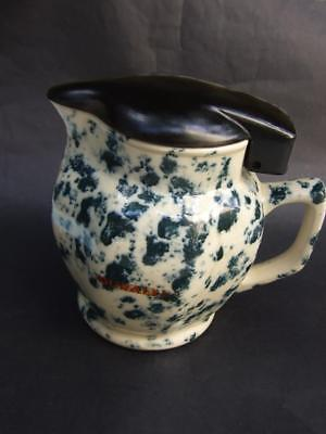 Vintage Australian  Electric Jug '' DURALEX'' Mottled Blue on Cream 1940's