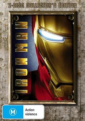 Iron Man (DVD 2-Disc Set) COLLECTORS EDITION LIKE NEW CONDITION FREE FAST POST