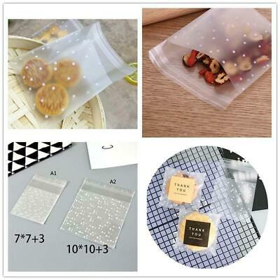 100x Self Adhesive Cookie Bags Candy Birthday Party Home Wedding Gifts Vogue