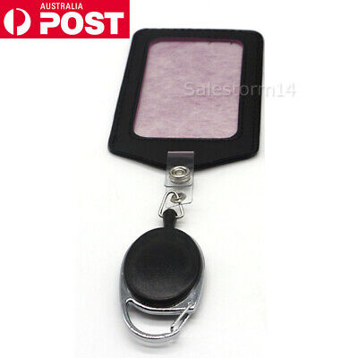 NEW Retractable Lanyard ID Badge Opal Card Holder Business Security Pass AU