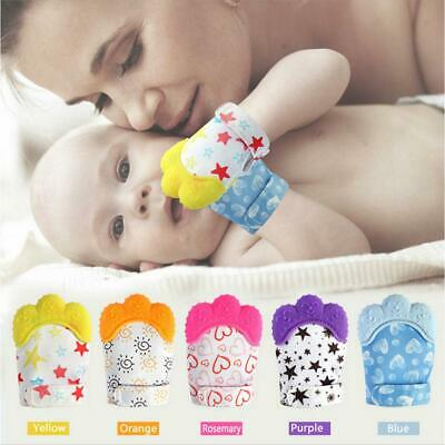 Baby Silicone Mitts Teething Mitten Soft Teether Glove Kids Gifts Teething Glove