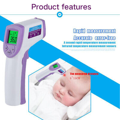 LCD Digital Noncontact IR Infrared Thermometer Forehead Body Thermometer