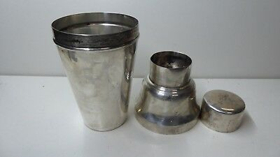 W.s & S Vintage Silver Plated Brass Art Deco Cocktail Shaker Made In England