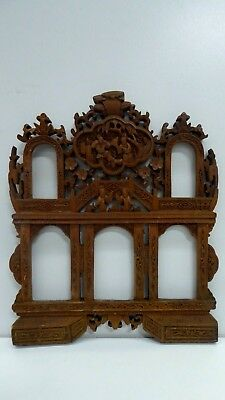 Antique Chinese Carved Wooden Panel Frame